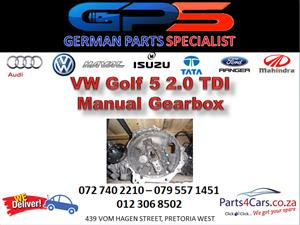 VW Golf 5 2.0 TDI Manual Gearbox for Sale