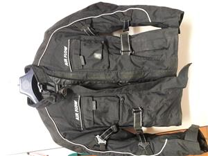 LSM AirFlow Motorcycle Jacket Large (Black)  - small fit