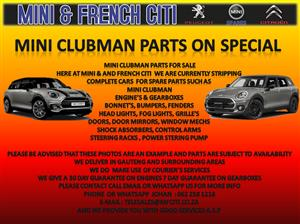 USED PARTS FOR SALE ON MINI CLUBMAN AND COUNTRYMAN