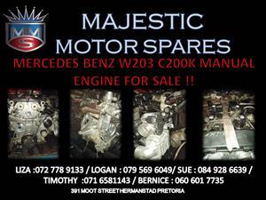 MERCEDES BENZ W203 C200K 2 ENGINE