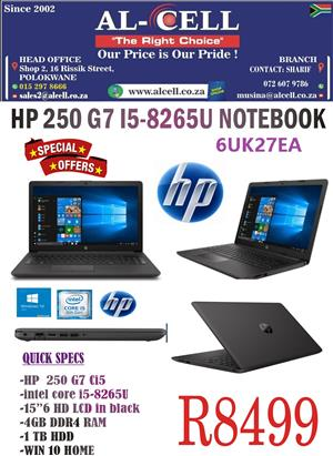 HP 250 G7 I5-8265U 4GB - 1TB Laptop