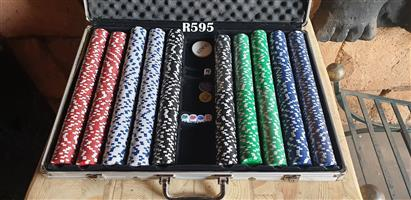 Case of Casino Chips and Games