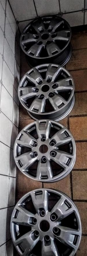 16 inch Ford set of 4 grey mags without tyres for R2799.00.