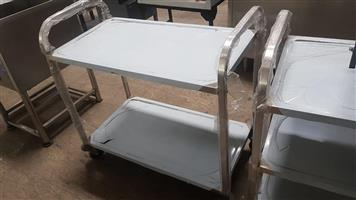Silver serving trolleys for sale