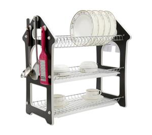 Comfeto Wares Three Tier Kitchen Dish Rack Holder (Wooden)