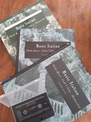 Italian Textbooks and tape