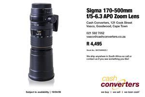 Sigma 170-500mm f/5-6.3 APO Zoom Lens