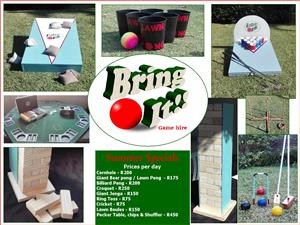 Game Hire for all events