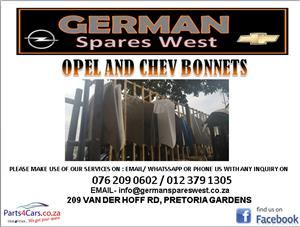 OPEL AND CHEV BONNET FOR SALE