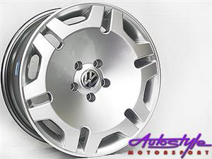 17 inch QS Cave Hypersilver Alloy Wheels - 4-100 pcd - 35 offset - sold as a set of 4