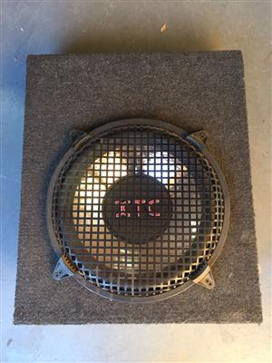 12 inch XTC subwoofer in box