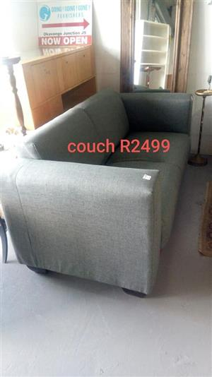 Medium grey 2 seater couch