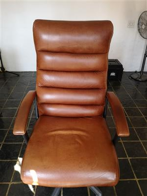 Pure Leather High Back Office Chair