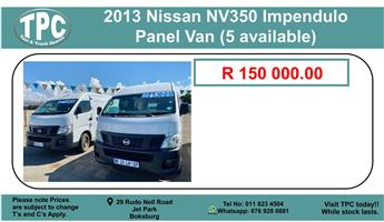 2013 Nissan NV350 panel van 2.5i