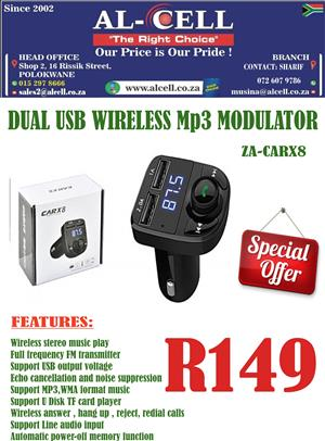 Dual USB Wireless MP3 Modulator