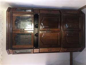 Antique Display & Dining Room Table