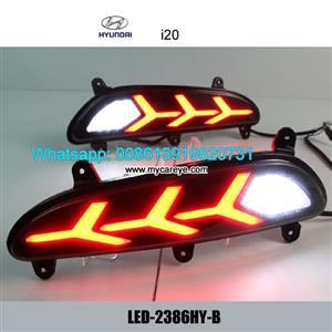 Hyundai i20 Car LED Rear Bumper Brake Turn Signal Lights