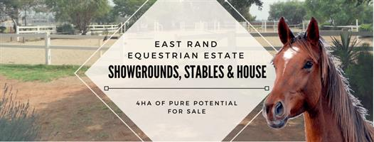 Equestrian farm with show grounds