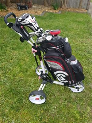 Immaculate Golf Club Set and  Buggy