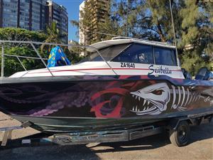 bayliner trophy 7,1 metre on trailer 2 x 150 hp suzuki 4 strokes