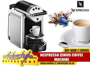 Nespresso Zenius Coffee Machine   Style, Quality and Professional Performance in a compact coffee machine / jura machines too