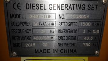 New Diesel Engine for Generator needed