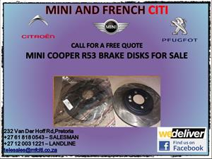 Mini cooper r53 brake disks for sale