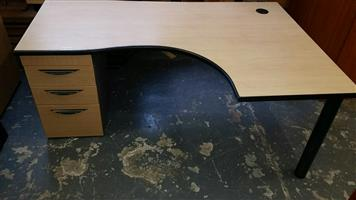 Maple desk with drawers