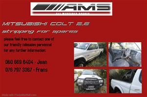 MITSUBISHI COLT 2.8 STRIPPING FOR SPARES