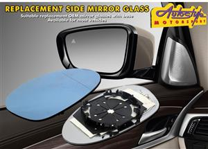 Mirror glasses suitable replacement mirrors and bases available for most cars