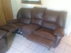 Two genuine leather couches