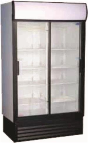 Double Door Beverage Cooler