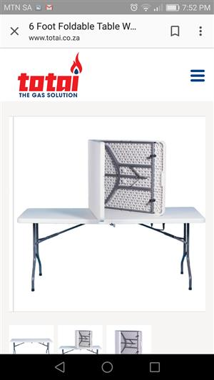 Foldable plastic table for sale