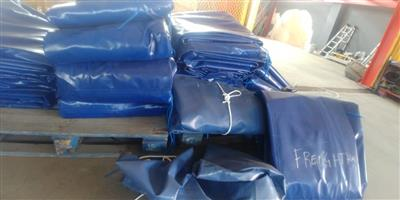 16m x 9m heavy duty truck tarpaulins and cargo nets for super-link and tri_axle readily available.