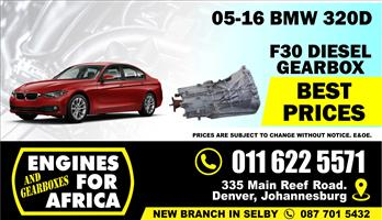 Used BMW 320d M47D20C F30 05-16 6speed Gearbox FOR SALE