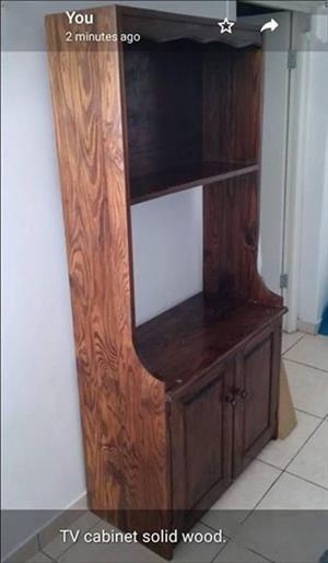 Dark wooden tv cabinet stand