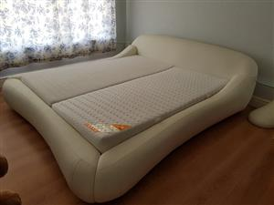 King Size Swiss Leather Bed
