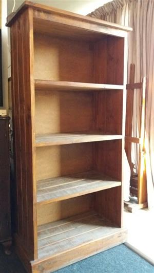old oak bookshelf