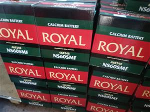 ROYAL DEEP CYCLE BATTERIES, ROYAL 65AH NS60SMF R750