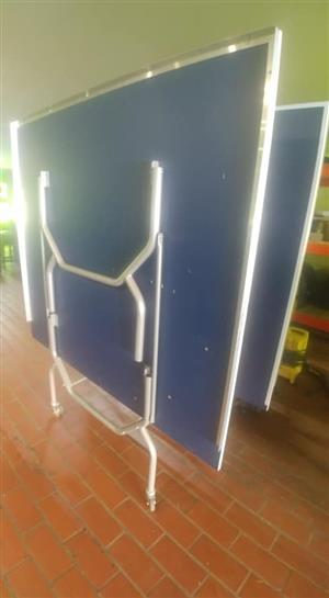 Blue table tennis tables for sale