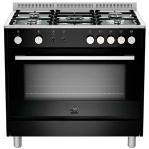 Winter Savings-La Germania 90 cm Gas Hob & Electric Oven Black, Burgundy, cream and S/Steel - TUS95C61LDNE