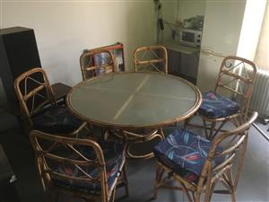 Bamboo Dining Room Table and chairs for sale