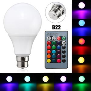 LED Light Bulbs: Colour Changing LED RGB Light Bulb with Wireless IR Remote Control Brand New