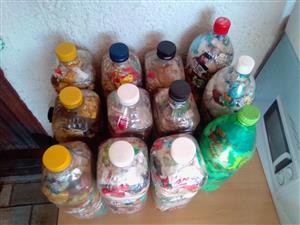 Eco Bricks 2L Round or Flat Bottles R30each.