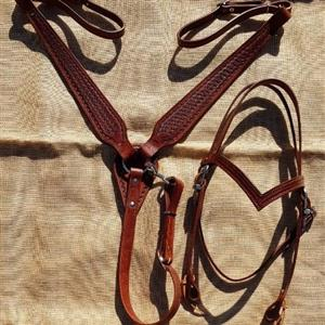 Headstall, breastplate and splitreins