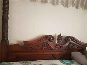 Beautiful antique king size bed