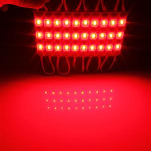 LED Light Modules: Waterproof Square Injection Moulded in Red Colour. 12Volts.
