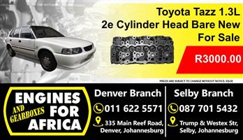 Toyota Tazz 1.3L 2e Cylinder Head New Bare For Sale