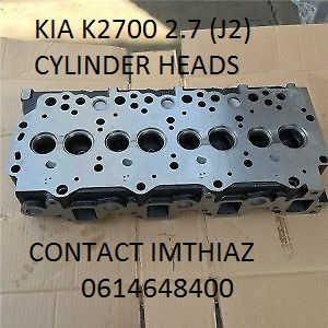 KIA K2700 2.7 (J2) CYLINDER HEADS BARE AND COMPLETE (BRAND NEW)