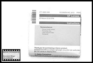 User Manual - Canon EF 40mm f/2.8 STM